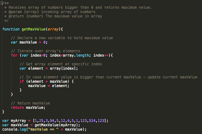 کامنت گذاری در کدها