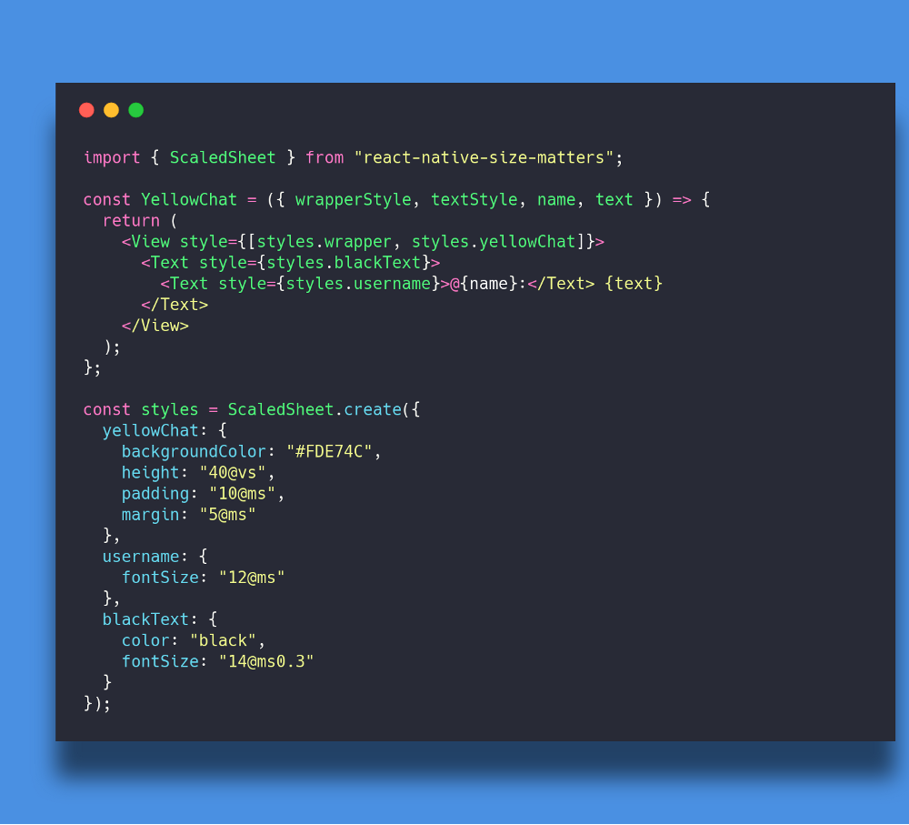 With react-native-size-matters