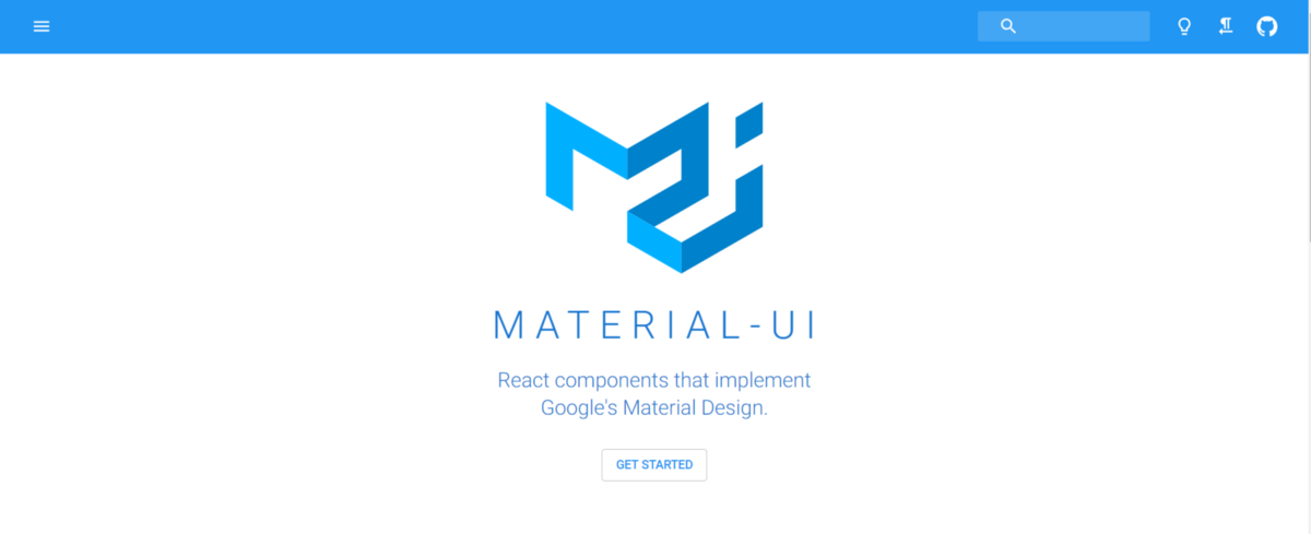 material ui-home page