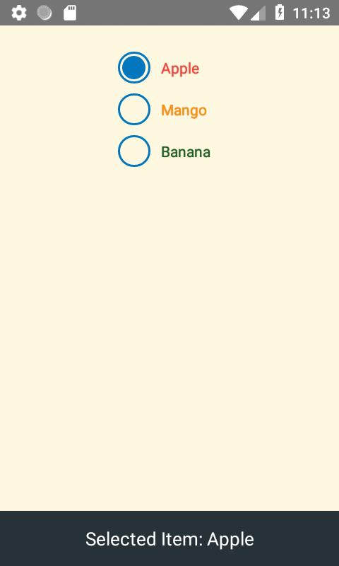 ایجاد Radio Button در React Native