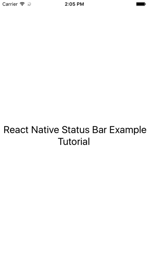 statusbar در React Native