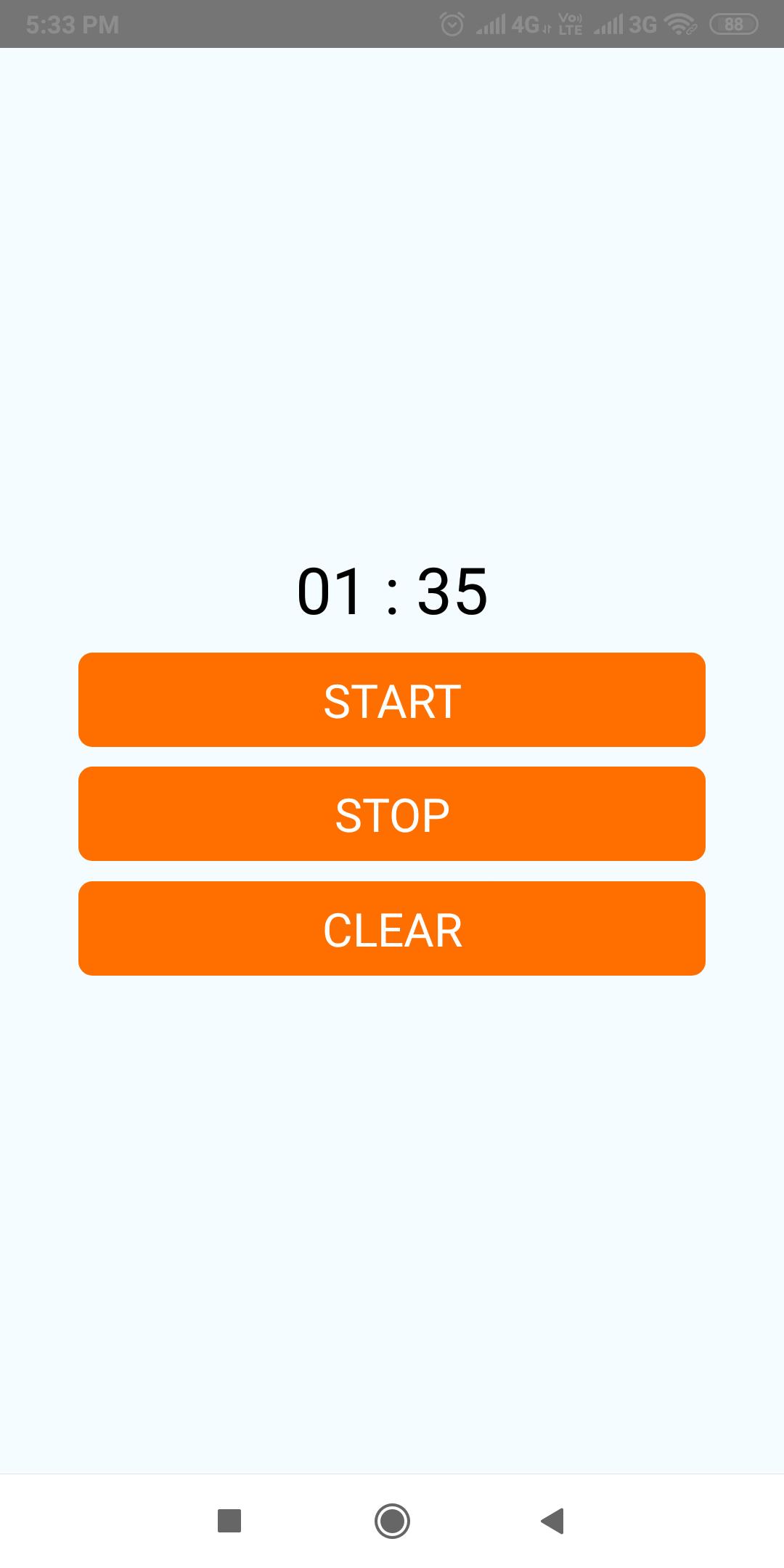 ساخت کرنومتر با react native