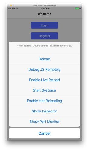 ابزار توسعه در react native