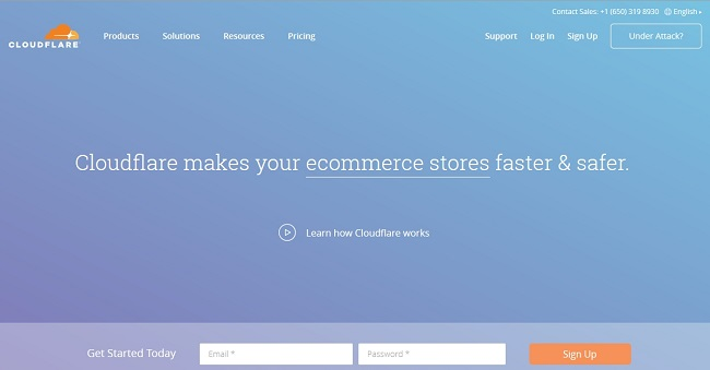 Cloudflare page home