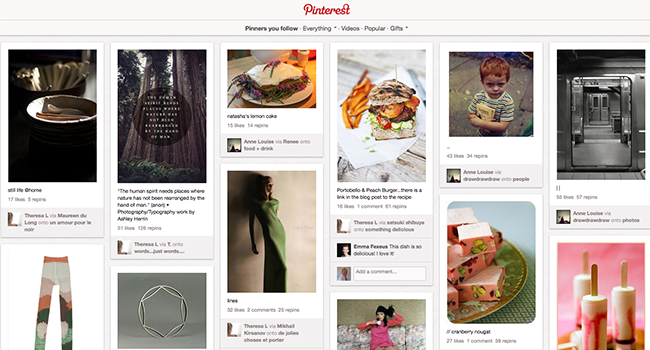 pinterest page home